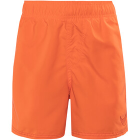 "Nike Swim Big Swoosh Logo Badbyxor Barn 4"" grå/orange"